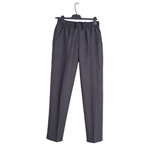 Pantalón Adaptado Hombre - Invierno - Pantalon Vestir con Goma en la Cintura - Tallas Grandes - Color Gris/Marino/Verde/marrón