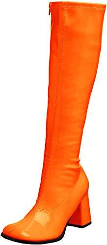 Funtasma Gogo300/S/PU Bottines Femme - Orange - Orange Stretch breveté, 44 EU