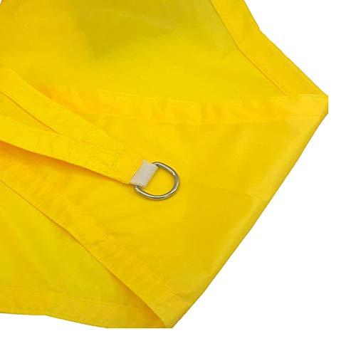 WYYUE Toldo del toldo del Sol, la Tela de Oxford PROTECCIÓN UV con el toldo Transpirable de la Vela para el jardín del Patio al Aire Libre triángulo 3x3x4.3m el Kit de fijación,Fluorescent Yellow