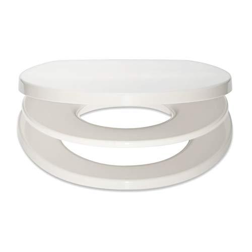 Bullseat WC Sitz Familie weiß mit optimalem Sitz für Kinder • Magnethalterung • Absenkautomatik/Softclose • abnehmbar • easyclean • Toilettendeckel • Klobrille • hochwertiges Duroplast