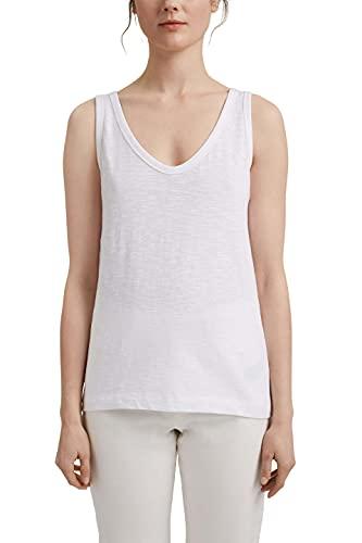 Esprit 041EE1K307 Camiseta, 100/White, XL para Mujer