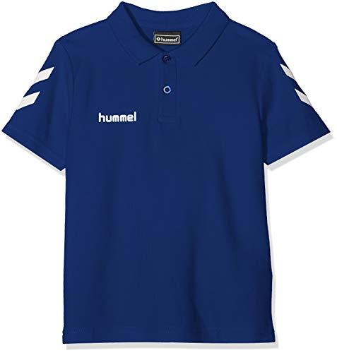 Hummel Hmlgo Kids - Polo de algodón para niños, Unisex niños, Camisa, 203521-7045, Azul auténtico, 164
