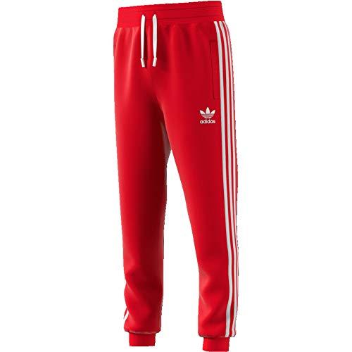 adidas Originals Pantalone Ragazzi 3-Stripes Rosso Taglia 13-14 A cod ED7812