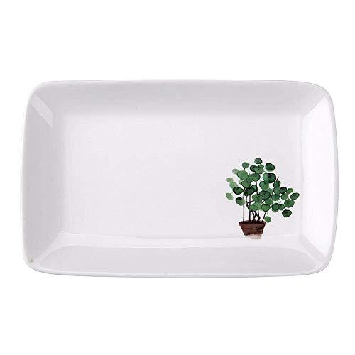 YNHNI Juego de platos para desayuno, plato de regalo, vajilla para decoración del hogar, plato de cerámica, bandeja para pasteles y postres, plato de frutas, repetible