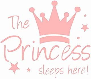 The Princess Words Removable Wall Sticker Pink Kid's Child Room Decor Decal