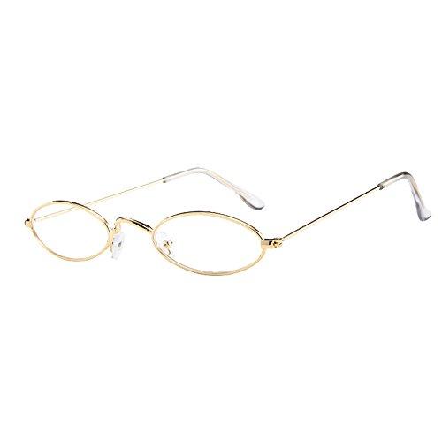 NEEDRA Donna 2020 Miglior Regalo Occhiali Unisex ITISME Moda Occhiali da sole Retro Ovale Piccolo con Montatura in metallo Taglia unica