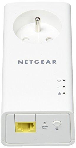 NETGEAR PLP1000-100FRS Pack de 2 prises CPL 1000 Mbps avec Prise filtrée et Port Ethernet Compatibles avec tous les modèles de la gamme et toutes les Boxs Internet, idéal pour le Multi-TV