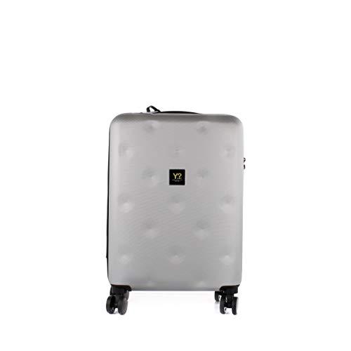 YNOT? Trolley Rigido Cabina ROMBO Argento/Silver 4 Ruote - TSA lock -art.12001…