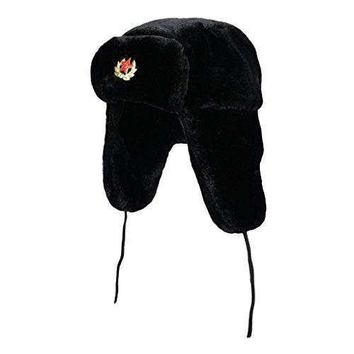 Uschanka, russische Kosacken-Kunstpelz-Mütze, warm, Wintermütze Gr....