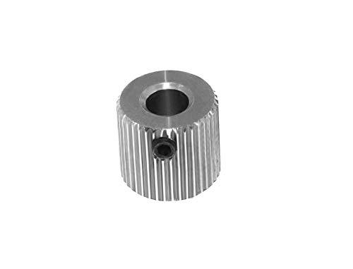 Pignone/Ruota dentata di allenamento in acciaio inox 40 denti per asse da 5 o 8 mm – Estrusore stampante 3D (asse 5 mm)
