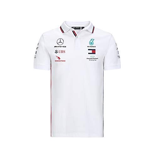 Official Formula one - Mercedes-AMG Petronas Motorsport 2020 - Polo de equipo en color blanco - XS