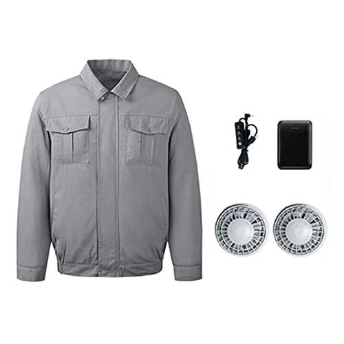 Cappotto con Aria condizionata Cappotto di Aria condizionata, Ventilatore di Raffreddamento Abbigliamento Aria condizionata, Tuta solari e Cool con Ventilatore (Size : X-Large)