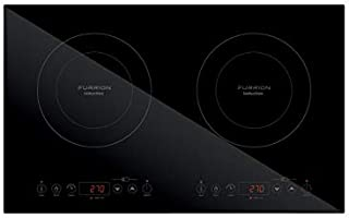 Furrion RV Electric Induction Cooktop 1800 Watt with Double Burners, Touch Sensors, Temperature Control, Pan Detection, Timer, Auto Shut Off, & Child Lock Features (Black) - FIH2ZEA-BG