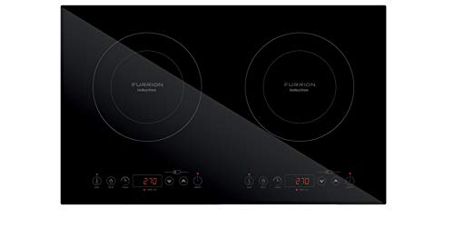 Furrion Portable RV Electric Induction Cooktop 1500 Watt with Single Burner, Touch Sensors, Temperature Control, Pan Detection, Timer, Auto Shut Off, Child Lock Features (Black) - FIH1ZEA-BG