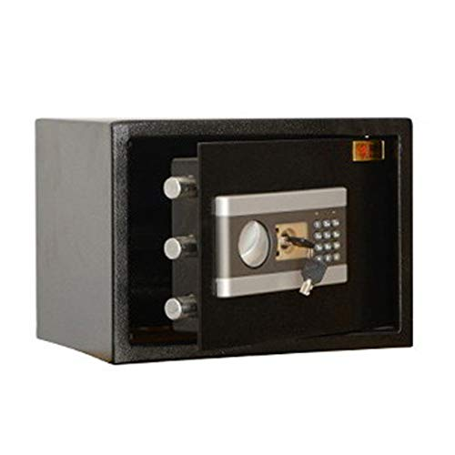 Armadietto a schermo piatto digitale LCD Digital Safe-elettronica in acciaio con cassaforte tastiera 2 tasti di modifica locale Manuale proteggere il denaro Passaporti gioielli Home Office Hotel.