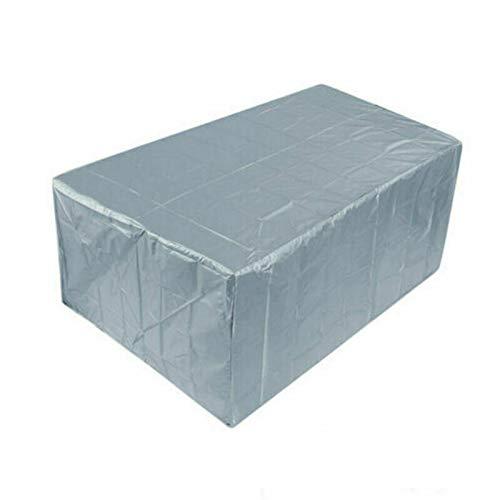 REW Cubiertas para muebles de jardín, cubiertas para mesa de patio al aire libre, fundas para muebles de patio (varios tamaños, plateado)