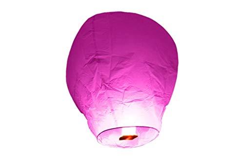 TellementHappy Lanterne chinoise Volante Rose 100% biodégradable qualité supérieure en papier Le Lampion mesure 90cm*60cm idéal pour vos événements mariage fêtes nouvel an lot de 10