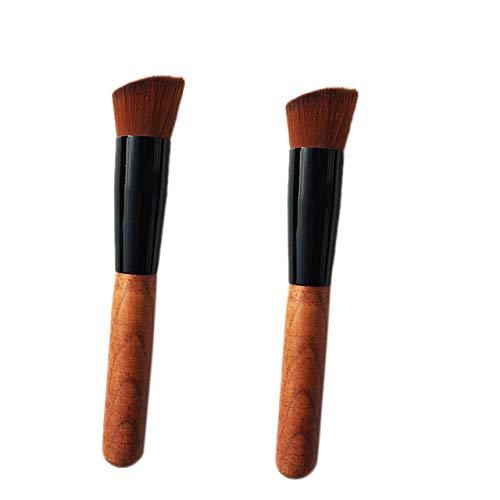 SNOWINSPRING 2 Pcs Maquillage Brosse Incliné Fondation Brosse Maquillage Contour Brosse Professionnel Beauté Cosmétiques Outils