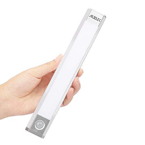 Luz LED Armario, Luz Sensor Nocturna Lámpara, 60 LED Luz de Armario USB Recargable Magnético con 3 Modos, 3 colores, 1000mAh para Armario/Gabinete/Escalera/Sótano/Cocina/Pasillo/Baño/Dormitorio