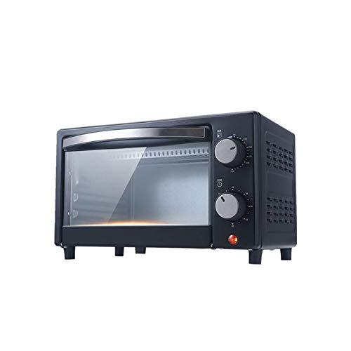 Dpliu Mini hornos de tostadora/Cocción versátil/Temperatura Ajustable/Temporizador/Accesorios incluidos/Varias Capacidades (12L) Pan Hornear Horno Tostadores Aire Fryer