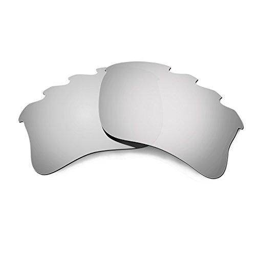 HKUCO Mens Replacement Lenses For Oakley Flak Jacket XLJ-Vented Sunglasses Titanium Mirror Polarized