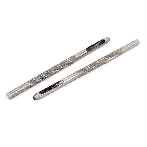 Aexit 2Stk. Körner & Locheisen 2mm Durchmesser Lederguertel Uhrarmband Locher Locheisen Locheisensatz