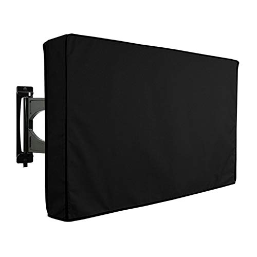 Outdoor Waterproof TV Cover for 65-70 inch, 600D Oxford Dust-Proof Weatherproof Material Universal TV Screen Protectors Fits Up to 63.4W x 42.5H inches with Remote Control Pocket for Outside (Black)