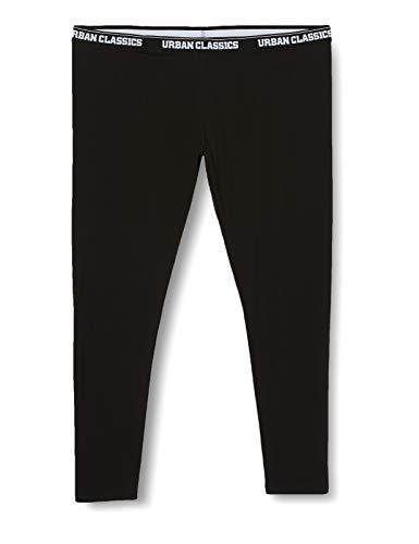 Urban Classics Damen Ladies Logo Leggings, Black, 34 (Herstellergröße: XS)