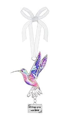 "Ganz Decor Life is Beautiful Hummingbird Ornament 3.75"" H"