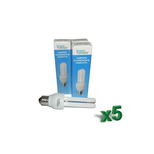 Set 5 x ampoules fluocompacte 15 W 12 V