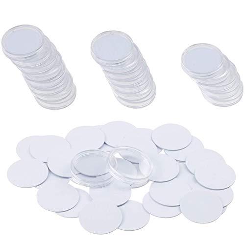 cherrypop 25 piezas para etiquetas Ntag215 NFC, 25 mm, 504 bytes Chip Sticker,Trabajar con TagMo para Amiibo +25 PC caja protectora de plástico