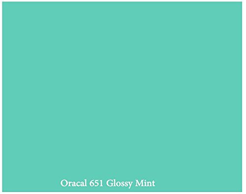 """Mint"" Glossy 12"" x 10 Foot Roll of Oracal 651 Permanent Adhesive-Backed Vinyl for Craft Cutters, Punches and Vinyl Sign Cutters"