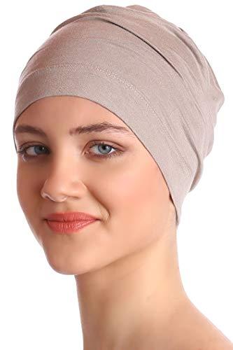 Deresina Headwear Unisex Kappe Aus Baumwolle für Krebs, Haarverlust - Schlafmütze (Umber)