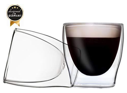 Duos Feelino Dubbelwandige glazen/thermoglazen/theeglazen/koffieglazen met zweefeffect houden dranken langer warm en langer koud