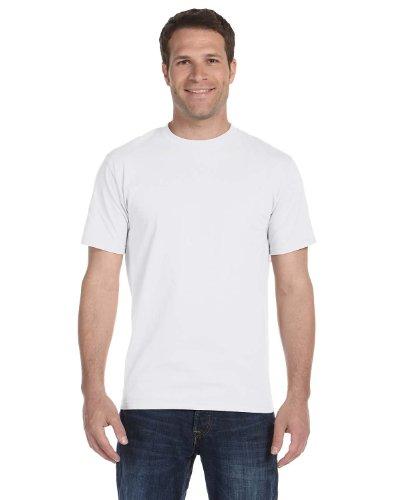 Men's 5.2 oz Hanes HEAVYWEIGHT Short Sleeve T-shirt , White, Large