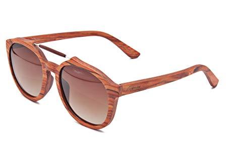 Wood Kiwi: Gafas de sol de madera - Polarizadas - UV400 - Unisex - Cherry Cat