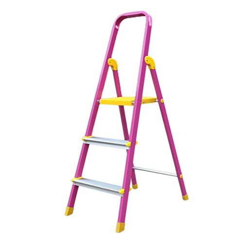 Herringbone Leiter, Aluminiumlegierung 3 Schritt Hocker Küche Klappstuhl Tragbare Fußstützen, Stehleiter, Lagerregal, Blumenständer Stabilität und Sicherheit