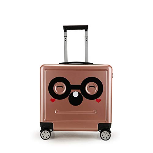 Niet van het merk Trunk ABS + PC Kinderwagen Bagage, Mode Cartoon Boarding Pass Locker Universele Wiel 16 Inch Trolley kofferbak