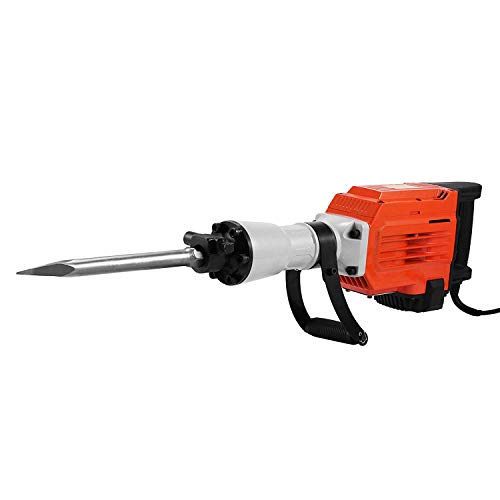 FlowerW 3600W Elektrischer Hammer Wrecker 1400RPM Elektrischer Wrecker mit 2 Meißeln 20kg Elektrischer Hammer Demolisher (95A)