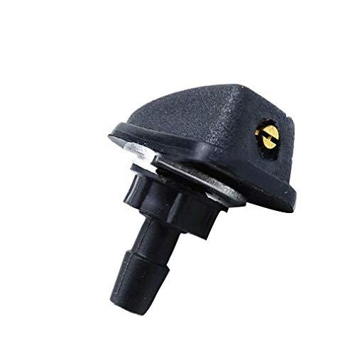 Boquilla de rociador en Forma de Abanico con limpiaparabrisas en General para automóvil (Negro)