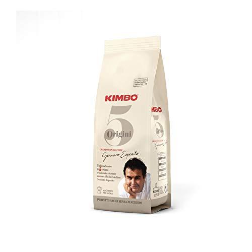 Kimbo Caffè macinato - 5 Origini Miscela Unica (confezione da 6 x 180g)