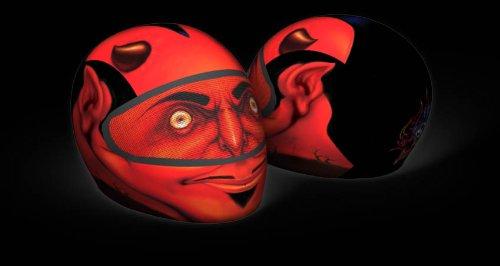 SkullSkins Elastischer Motorrad Roller Quad Motorradhelm Helm Überzug / Bezug - Devil Red