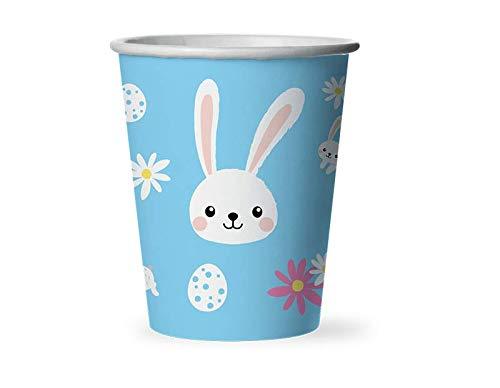 Schuldige Gadgets Pasen wegwerp papier bekers Bunny Konijn Chick Gedrukt bekers Bonnet Decoratie Party servies - 12 Pack Verschillende ontwerpen