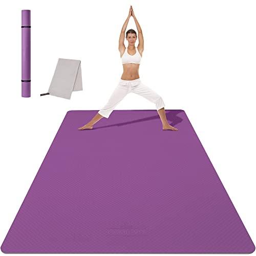 CAMBIVO TPE Large Tapis de Yoga (183x 122 x 0.6cm), Tapis de Sport, Tapis Antidérapant, Epais, Ecologique de Yoga pour Hommes et Femmes, Tapis de Fitness pour Le Yoga, Pilates, Exercice