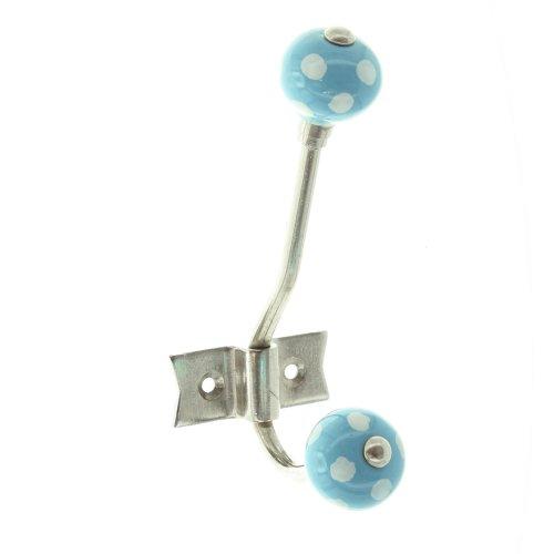 Double crochet bleu/blanc 43 en métal