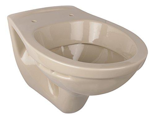 'aquaSu® Wand-WC | Tiefspüler | Beige | Toilette | Klo | Hänge-WC | Bad | Badezimmer | Gäste-WC | Keramik