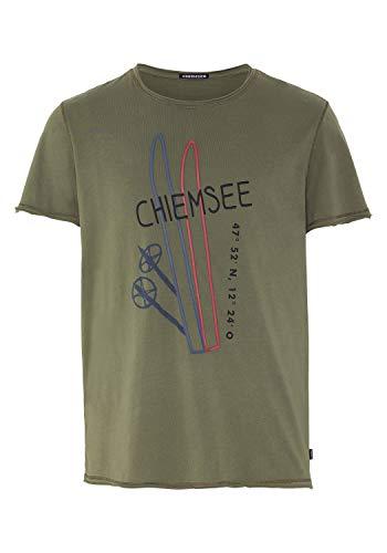Chiemsee T-Shirt mit großem Frontprint M Dusty Olive