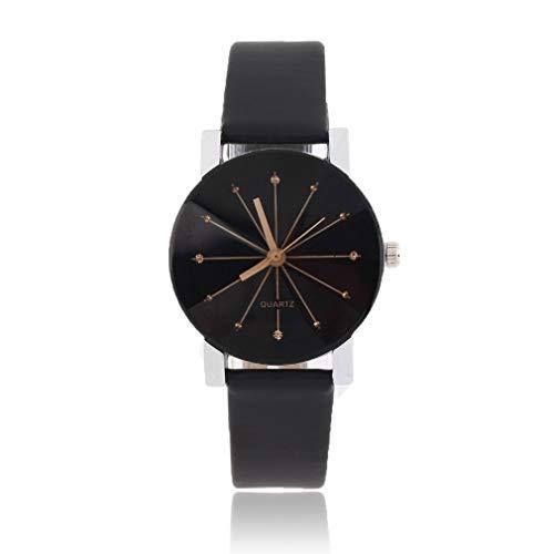 JIE Diseño de Moda Reloj de Pulsera Hombre Mujer Amantes Pareja Movimiento de Cuarzo de Lujo Mujer Negra
