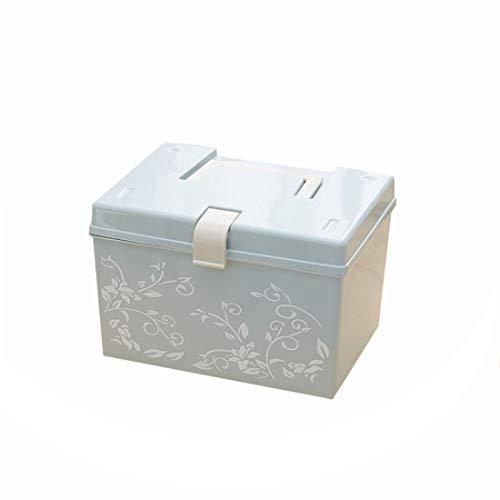 Ovesuxle Kosmetische Druckkoffer Feuchtigkeitsbeständige Medikamentenschachtel für Haushalt versiegelt Dicke Multifunktions-Aufbewahrungsbox aus Kunststoff (Color : Green small)