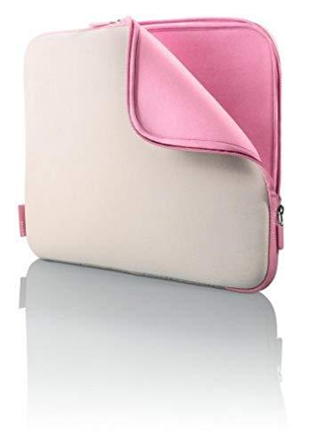 Belkin 38,1 cm (15 Zoll) Notebook Schutzhuelle neopren Taubengrau/Pfingstrosenrosa